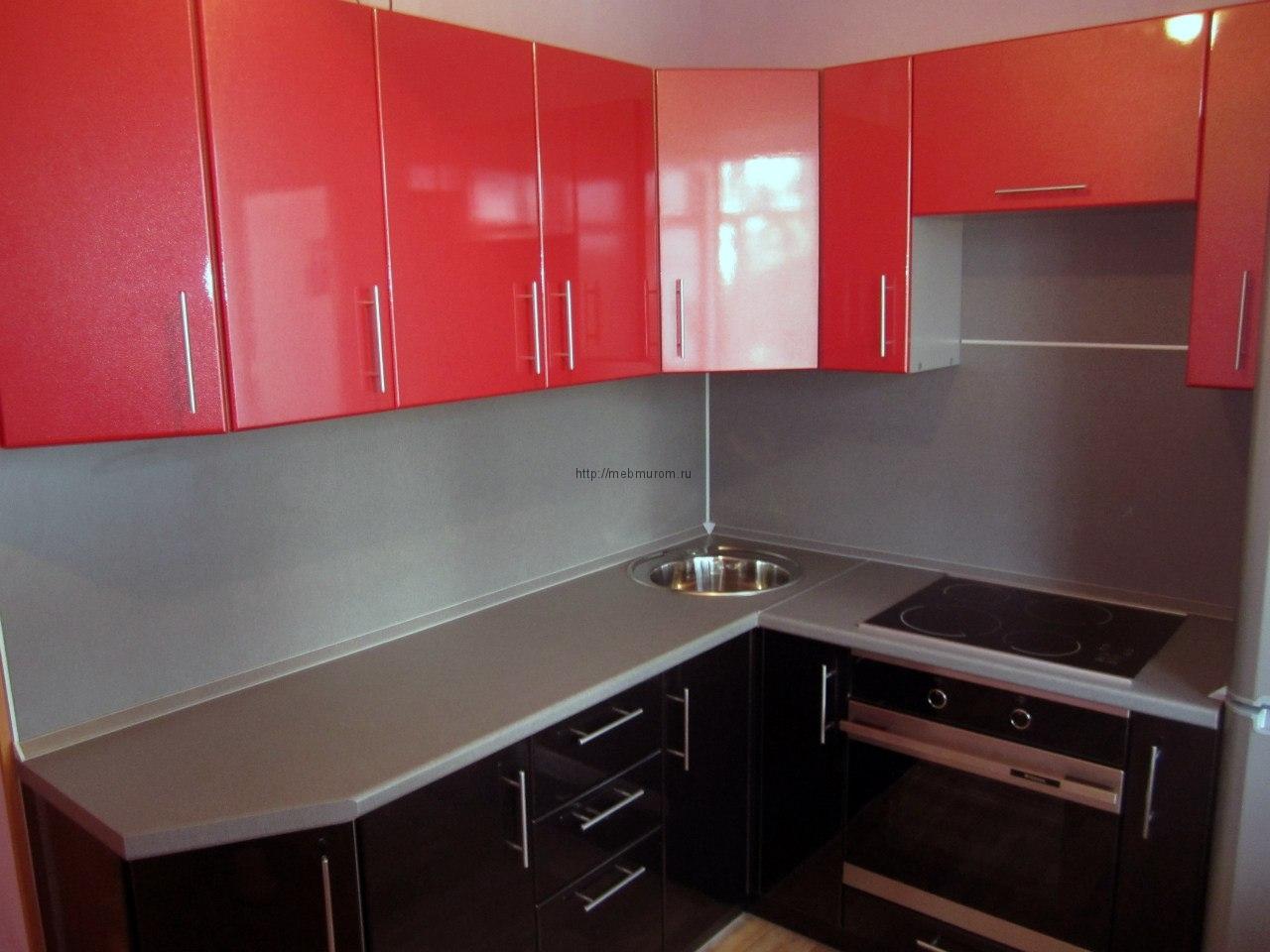 Кухня с фасадами из мдф в пленке пвх